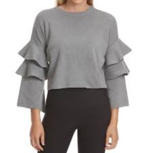 Sweaters - new // Gray Ruffle Sweater